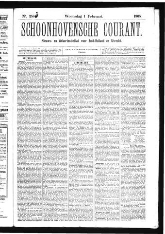 Schoonhovensche Courant 1905-02-01