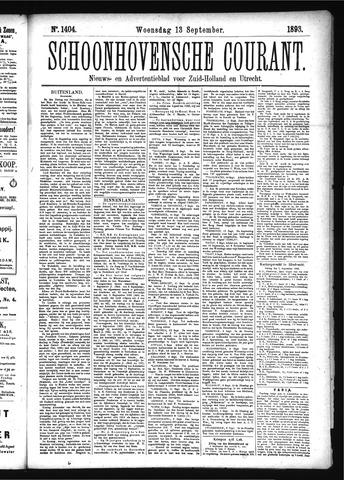 Schoonhovensche Courant 1893-09-13