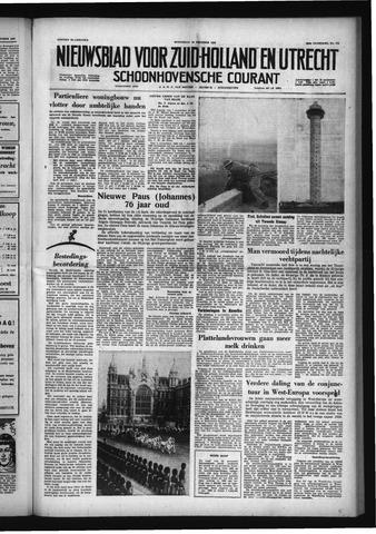Schoonhovensche Courant 1958-10-29