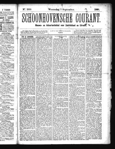 Schoonhovensche Courant 1898-09-07