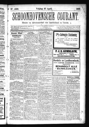 Schoonhovensche Courant 1920-04-30