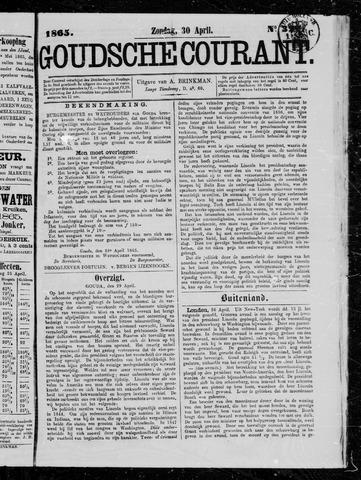 Goudsche Courant 1865-04-30