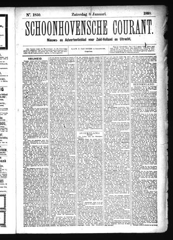 Schoonhovensche Courant 1898-01-08