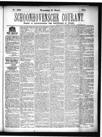 Schoonhovensche Courant 1914-03-25