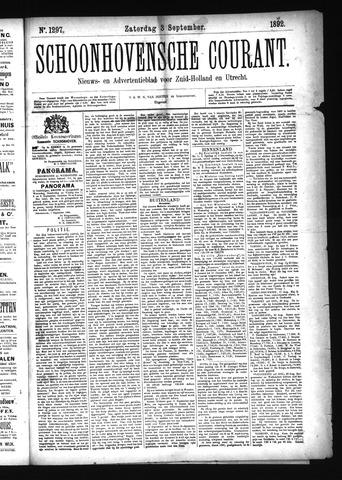 Schoonhovensche Courant 1892-09-03