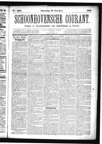 Schoonhovensche Courant 1909-10-30