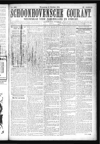 Schoonhovensche Courant 1924-10-22