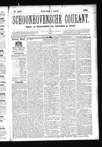 Schoonhovensche Courant 1896-04-04