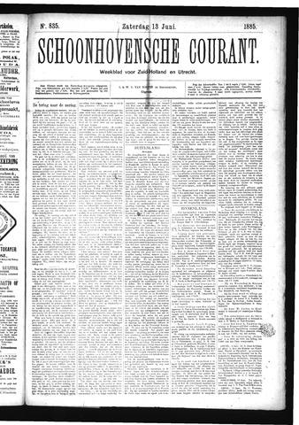 Schoonhovensche Courant 1885-06-13
