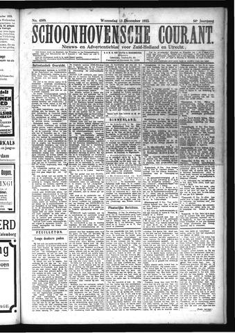 Schoonhovensche Courant 1922-12-13