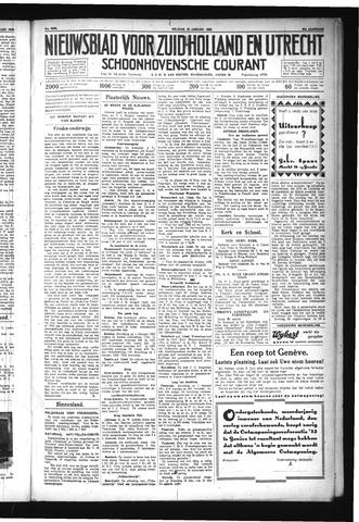 Schoonhovensche Courant 1932-01-15
