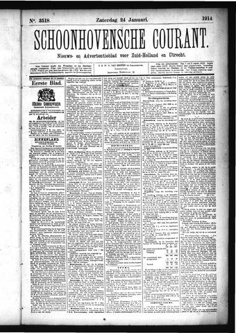 Schoonhovensche Courant 1914-01-24