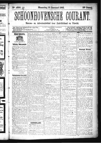 Schoonhovensche Courant 1921-01-31