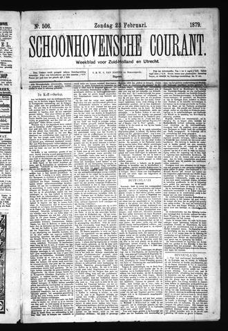 Schoonhovensche Courant 1879-02-23