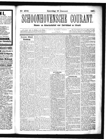 Schoonhovensche Courant 1907-01-26