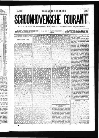 Schoonhovensche Courant 1875-11-14