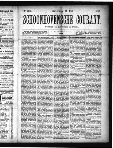 Schoonhovensche Courant 1889-05-25