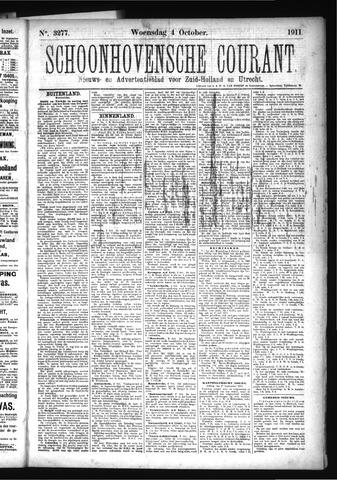 Schoonhovensche Courant 1911-10-04