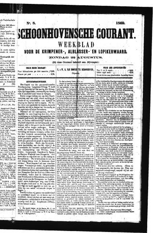 Schoonhovensche Courant 1869-08-22