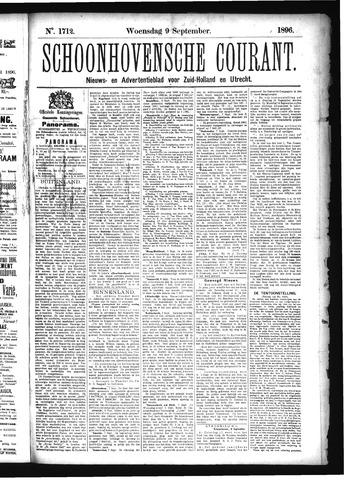 Schoonhovensche Courant 1896-09-09