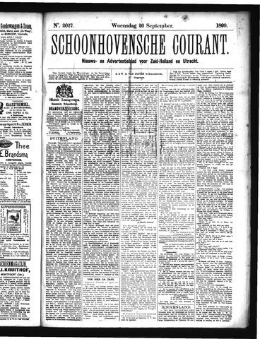 Schoonhovensche Courant 1899-09-20