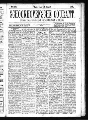 Schoonhovensche Courant 1892-03-12