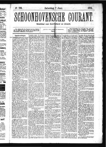 Schoonhovensche Courant 1884-06-07
