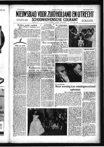 Schoonhovensche Courant 1958-11-14
