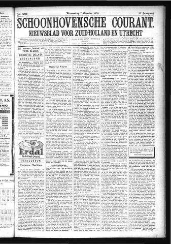 Schoonhovensche Courant 1925-10-07