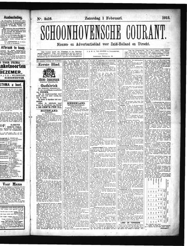 Schoonhovensche Courant 1913-02-01