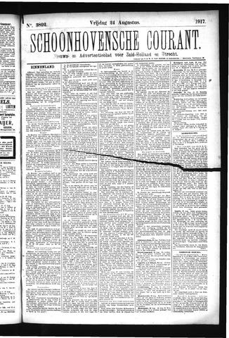 Schoonhovensche Courant 1917-08-24