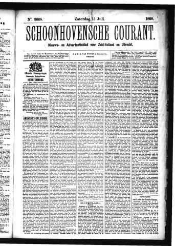 Schoonhovensche Courant 1899-07-15