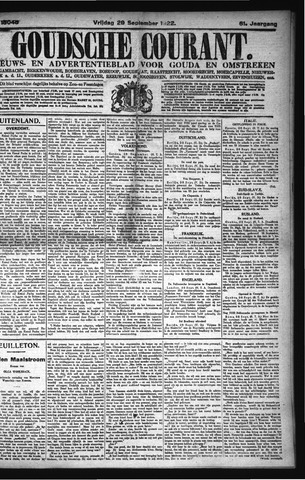 Goudsche Courant 1922-09-29