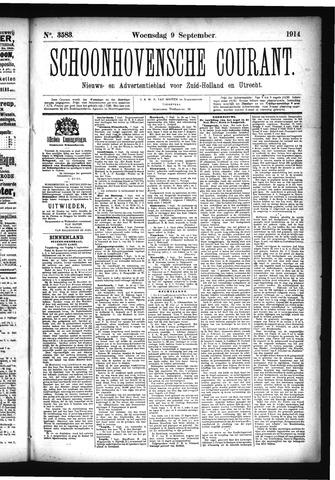 Schoonhovensche Courant 1914-09-09