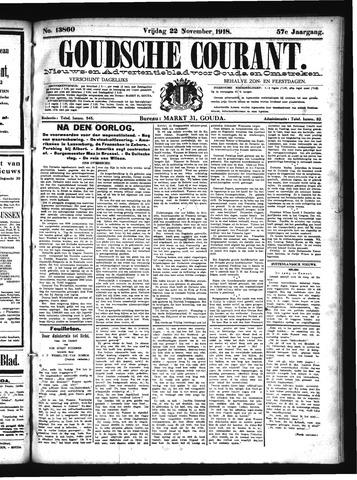 Goudsche Courant 1918-11-22