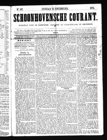 Schoonhovensche Courant 1874-12-13