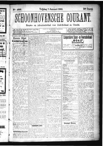 Schoonhovensche Courant 1921-01-07