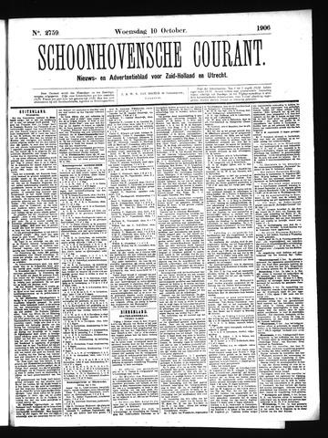 Schoonhovensche Courant 1906-10-10