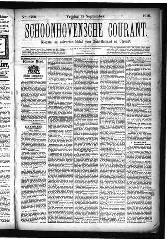 Schoonhovensche Courant 1916-09-22