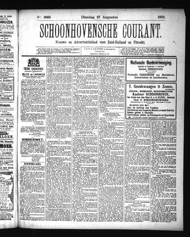 Schoonhovensche Courant 1918-08-27