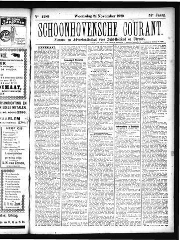 Schoonhovensche Courant 1920-11-24