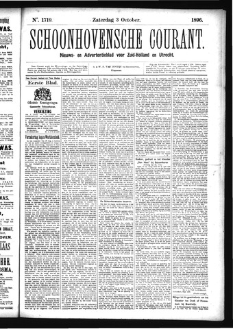 Schoonhovensche Courant 1896-10-03