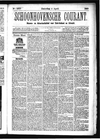 Schoonhovensche Courant 1908-04-04