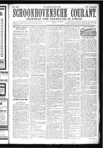 Schoonhovensche Courant 1924-07-16