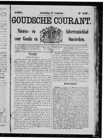 Goudsche Courant 1863-08-27