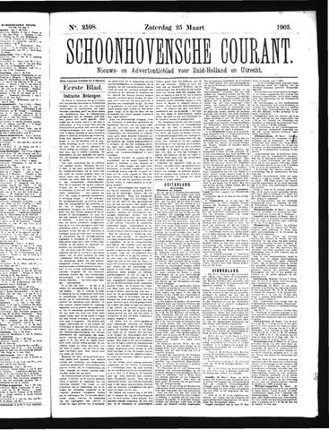 Schoonhovensche Courant 1905-03-25