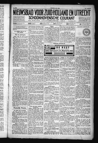 Schoonhovensche Courant 1930-07-25