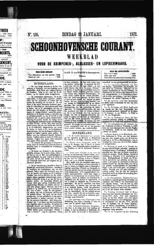Schoonhovensche Courant 1872-01-28