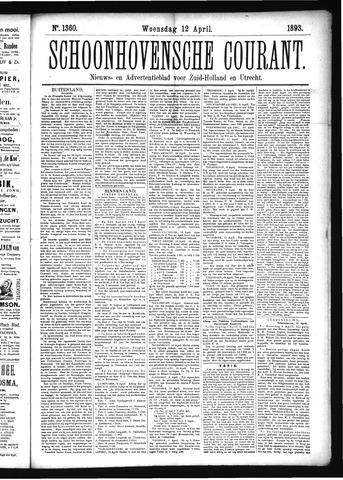 Schoonhovensche Courant 1893-04-12