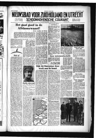Schoonhovensche Courant 1953-03-04